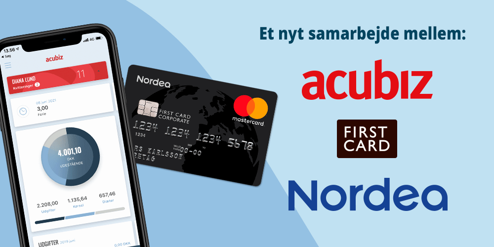 Nordea First Card x Acubiz samarbejde