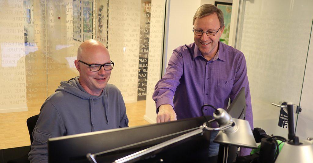 Ansigt på Acubiz: René og Jens