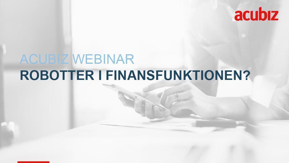 Webinar: Robotter i finansfunktionen?