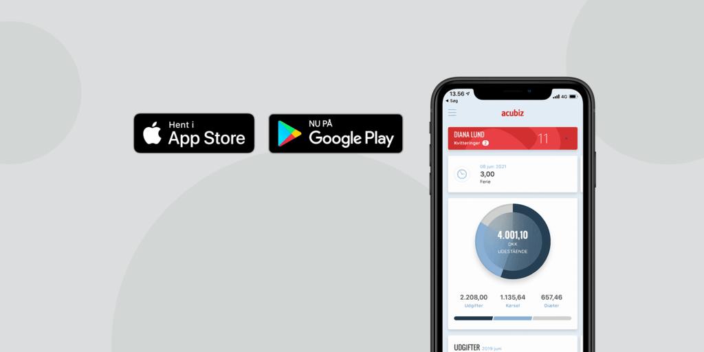 Acubiz version 2.3.0 tilgængelig i din app-butik