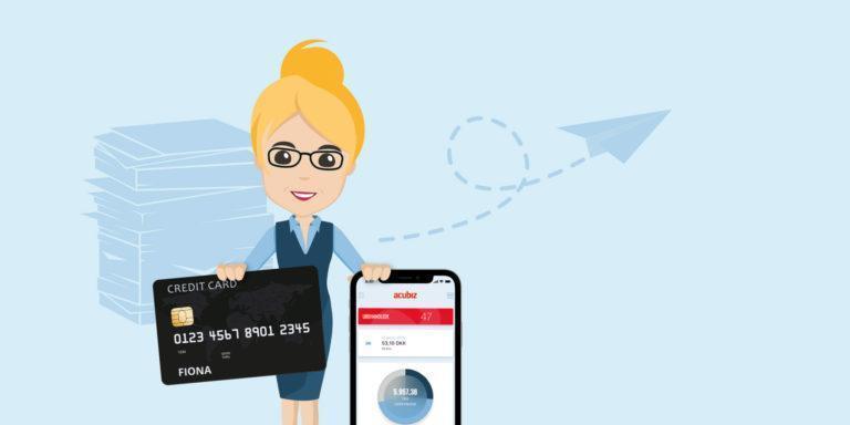 Firmakreditkort og Acubiz går hånd i hånd