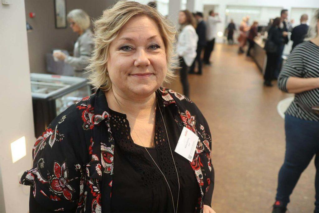 Karina Fjorting Burmeister & Wain Scandinavian Contractor was interviewed at Acubiz Summit at Rungstedgaard