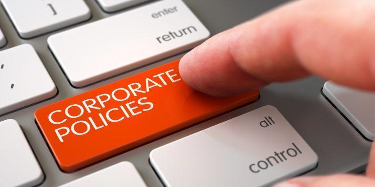Firmapolitikker i virksomheder