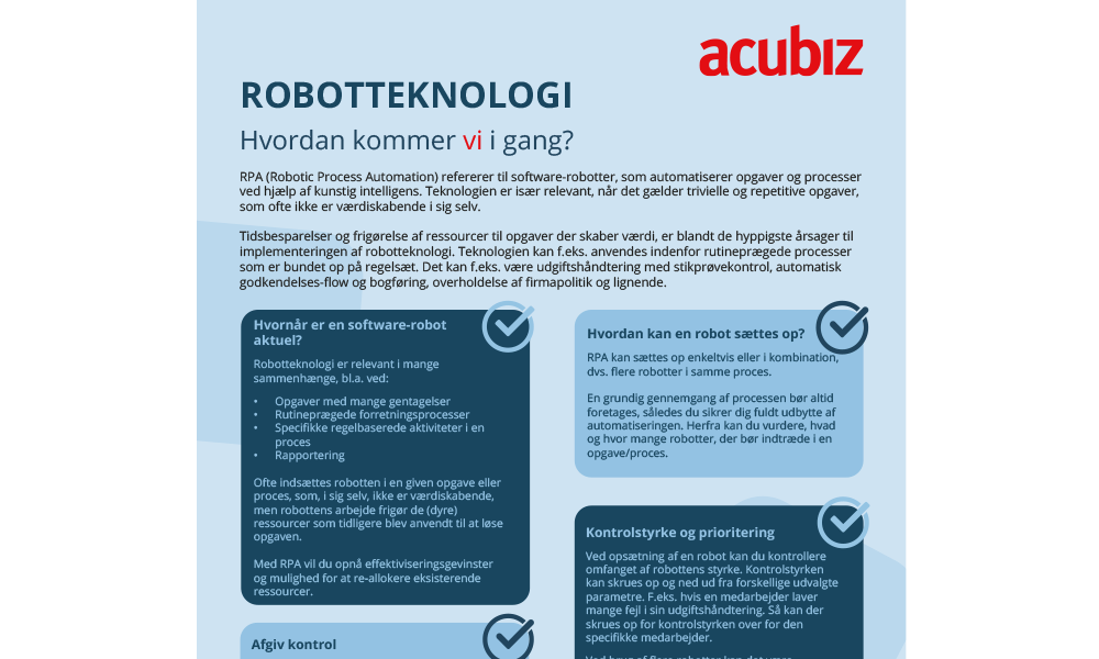 Featured: Robotteknologi – Hvordan kommer vi i gang?