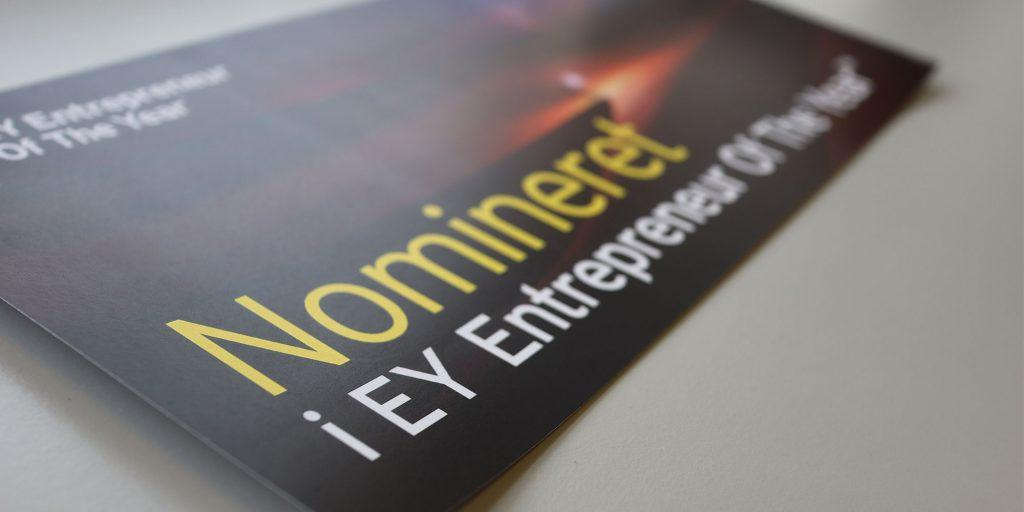 Nomineret til Entrepreneur of the year 2020 af EY